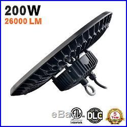 200 Watt UFO LED High Bay Warehouse Light UL DLC Certified 5000k 26000 Lumens US