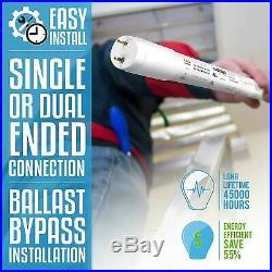 20 x PARMIDA 4FT LED T8 Tube Light 18W FROSTED Ballast Bypass Shatterproof DLC