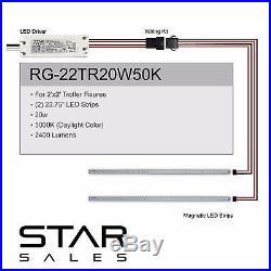 20w 2'x2' 5000K Magnetic LED Troffer Retrofit Kit, DLC Rebate! R2-22TR20W50K