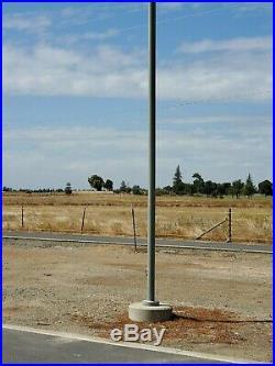22 Ft Gray Street Steel Light Pole Yard Decor Parking Lot Driveway Street Lamp