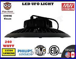240WT LED UFO High Bay Light ETL DLC 5000K Lighting Fixture Factory Industry