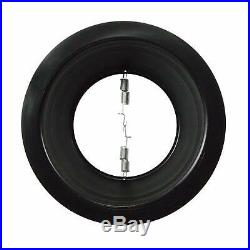 24 Pack 6 Inch Black Stepped Baffle Recessed Housing Can Trim, Black Ring