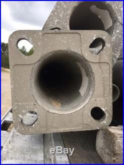 25' Foot Round Tapered Aluminum, Anchor Base Light Pole 9.5 Base