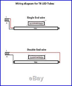 25 Pack T8 Led Tube Light 22W 4FT/2FT Fluorescent Replacement 3000K 4000K 6500K