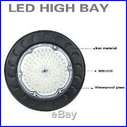 2PCS 100Watt LED High Bay Light Flying Saucer 120-277V 10500 Lumens 5500K