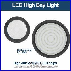 2PCS 300W UFO LED High Bay Light Shop Work Warehouse Industrial Lighting 6000K