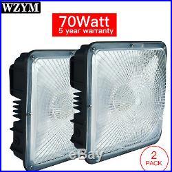 2PCS 70W LED Canopy Ceiling Light Warehouse Workshop Hall Lobby Gas Station Lamp