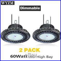 2Pack UFO High bay LED Light Fixture 60W 300W HID/HPS equivalent Hanging Light
