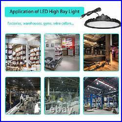 2Pcs 200W UFO LED High Bay Light Shop Work Warehouse Industrial Lighting 6000K