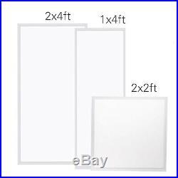 2Pcs 2x4FT 60W 5000K Flat LED Troffer Panel Light, Drop Ceiling Flat Panel, 7200LM