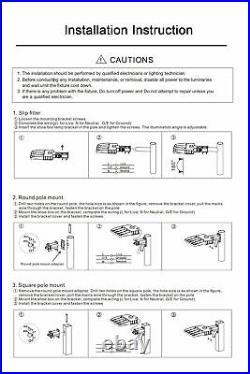 2Pcs LED Parking Lot Light 150W Shoebox light Fixtures with Photocell 21000lm