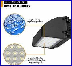 2Pcs/Pack 40Watt Full Cut Off LED Wall Pack Light 5000K ETL DLC Replace 300W HID