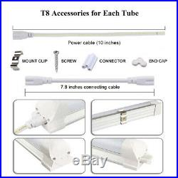 2-100PCS T8 LED Tube Light Fixtures 4FT 8FT Shop Lights 6000K 14-90W V-shaped