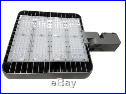 (2)LED Commercial Pole Light Grey 300W AC200-480V Parking Lot Security Outdoor