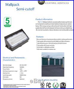 (2)LED Wall Pack Light 90 Watt Area Light, Building Illumination, Security Light