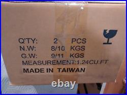2 New in box, Ecobra-Head LED Street Lights 6 LED 120-277V 4000K 530mA Gray 41W