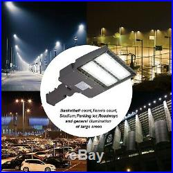 2 PACK 150W LED Parking Lot shoebox Light Fixture UL DLC approved Slip Fitter