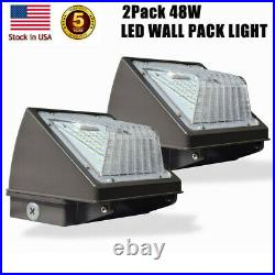 2 PACK 48Watt Led Wall Pack Lights Outdoor Led Security Flood Light Fixtures