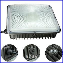 2 PACK LED CANOPY LIGHT 45W 9.6x9.6 FOR GARAGE STREET AREA & OUTDOOR LIGHTING