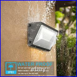 2 Pack 120W LED Wall Pack Light Dusk to Dawn Commercial Industrial Outdoor Light
