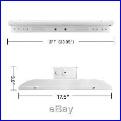 2-Pack 160W 2FT LED Linear High Bay Light, AC100-227V, 0-10v Dimmable, 5000K