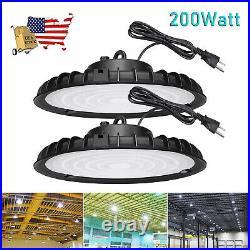 2 Pack 200W UFO Led High Bay Light 200 Watt Commercial Warehouse Workshop Light