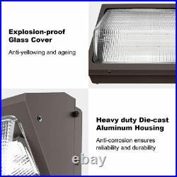 2-Pack 40W LED OUTDOOR WALL PACK 5000K IP65 4,800 Lumens Glass lens UL DLC