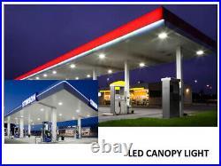 2 Pack 45W LED Canopy Light, Outdoor LED Parking Garage Lights, Low Bay Lighting