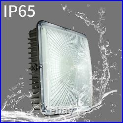 2 Pack, 70Watt LED Canopy Light, Carport Driveway Gas Station Ceiling Light IP65