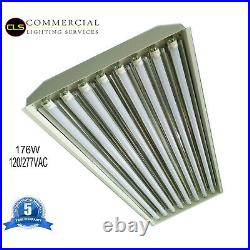 (2) T8 LED High Bay Warehouse Shop Commercial Light 8 Lamp Fixture