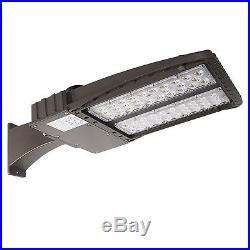 2x 150W 6000K LED Shoebox Light Parking Lot Pole Outdoor Site Area Lights