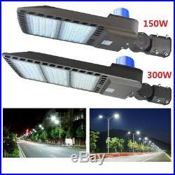 300W 150W LED Parking Lot Light with Photocell, Shoebox Street Area Flood Light