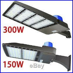 300W 150W LED Street Light for Parking Lot Shoebox Outdoor Area 5700K -Arm Mount