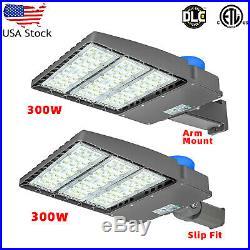 300W LED Parking Lot Lights, Shoebox Pole Light, 1000-1200W HID/HPS Replacement