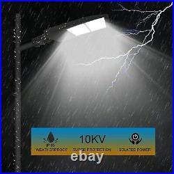 300W LED Parking Lot Shoebox Pole Street Area Light Equivalent 1000W Slip Fitter