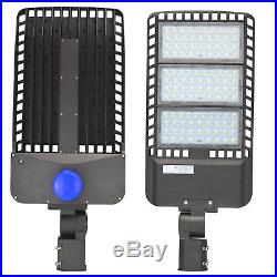 300W LED Parking Lot Shoebox Street Light WYZM Outdoor IP65 Lamp 5500K Fixtures