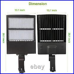 300W LED Shoebox Lights, 1000W MH/HPS Equiv. Parking Lot Light Direct Arms Mount