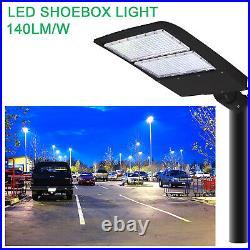 300W LED Shoebox Parking Lot Light 5700K Equal 800W MH Street Area Pole Fixtures