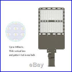 300W Led Parking Lot Street Light With Photocell Shoebox Area Light 1000W Equiva