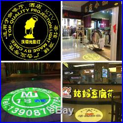 30W Static LED Advertising Logo Projector Laser Light Lamp Shop Store Welcome