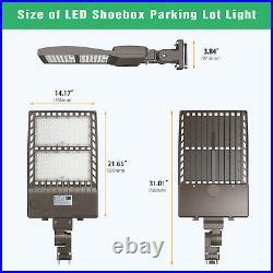 320W LED Parking Lot Light Shoebox Street Light Area Pole Light Fixture 5700K UL