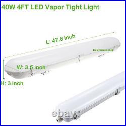 3-PACK 40W LED Vapor Tight Light 4FT Vapor Proof Shop Garage Warehouse Light