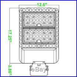 400W HID Parking Lot Light LED Replacement Shoebox Light 480 Volt Trunnion Mount