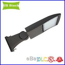 400 Watt HID Equal LED Shoebox Light Fixture Pole Light Retrofit DLC 3 brackets