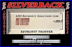 40w Magnetic LED Troffer Retrofit Kit 2x4 (4000K) 4750 Lumens (10 KITS)