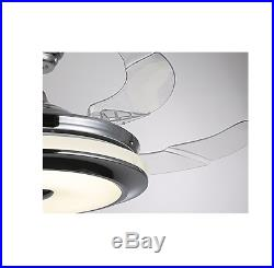 42 Retractable Ceiling Fan Lamp with Light Remote Control Dimmable LED Chandelier