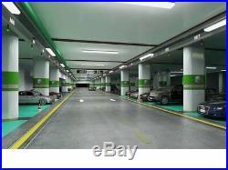 48W Linkable LED Wraparound Flushmount Light 4FT, 4000Lumens 5000K, ETL and