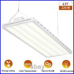4FT Super Bright LED High Bay Warehouse Shop Commercial Light Fixture 220W 5000K