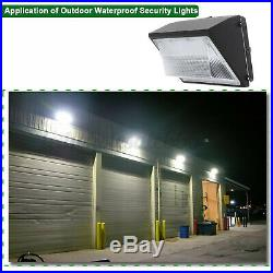 4PACK 125Watt LED Wall Pack Commercial Industrial Light Outdoor Security Fixture