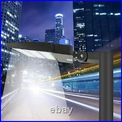 4PCS 300W LED Parking Lot Light Commercial Outdoor IP65 Shoebox Street Pole Lamp